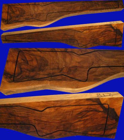 Kaukasische Schafthölzer aus edlem Walnussholz - Repetierschaftholz